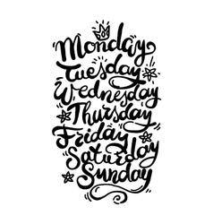 Days of week vector