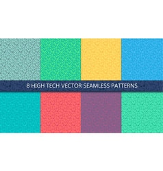 Computer processor chip seamless pattern vector