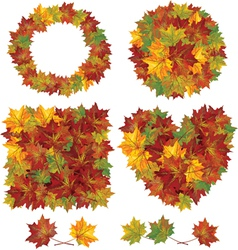 Autumnal leaves vector