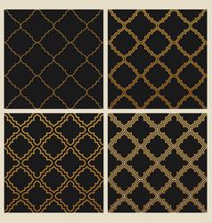 Oriental ornate seamless background set in eastern vector