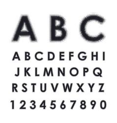 Latin alphabet with halftone effect vector