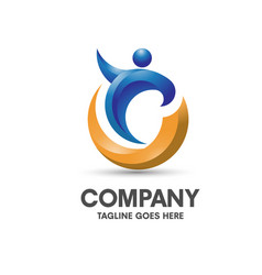 Coaching health and fitness logo vector