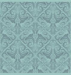 floral seamless pattern vintage background vector image