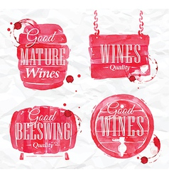 Watercolor wine cask vector