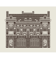 Baroque house vector