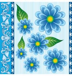 Floral ornament for textiles vector