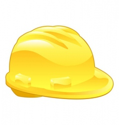 Shiny yellow hard hat illustration vector