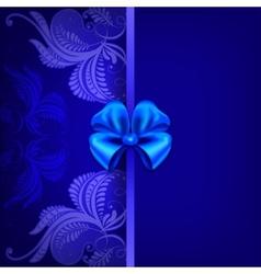 Vintage pattern on a dark blue background vector image