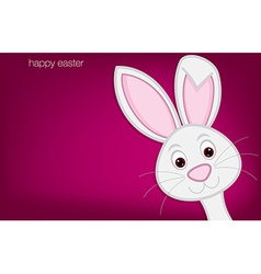 Hiding easter bunny card in format vector
