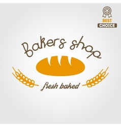 Logo label emblem or badge for bakery or baker vector