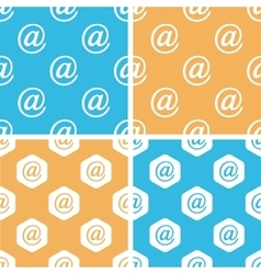 Email sign pattern set colored vector