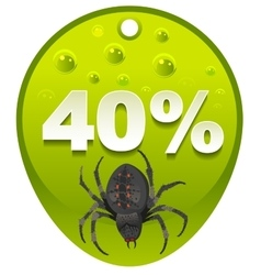Halloween discount coupon 40 percent halloween vector