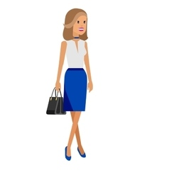 Detailed women or sudent woman in casual vector