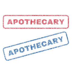 Apothecary textile stamps vector