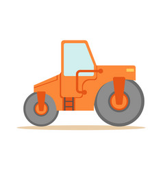 Asphalt finisher road machine part of roadworks vector