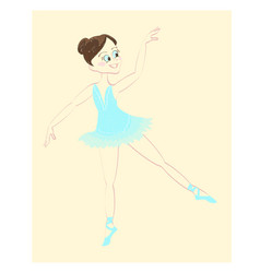 beautiful cute ballerina vector image