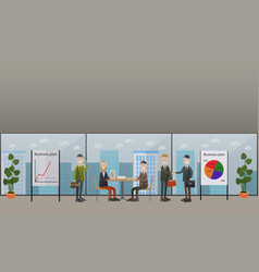 Business conference meeting concept flat vector