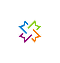 circle shape colorful geometry business logo vector image