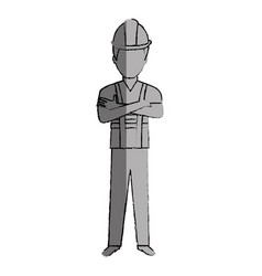 Construction worker avatar character vector