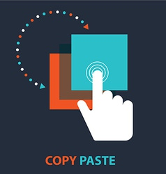 Copy paste icon vector