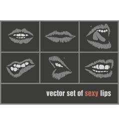 Dark paper lips vector