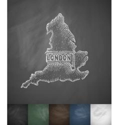 England icon Hand drawn vector image