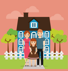 Family home new property image vector