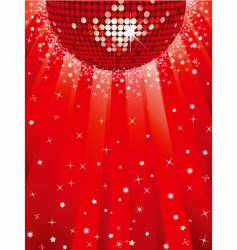 festive discoball background vector image vector image