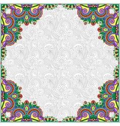floral vintage frame ukrainian ethnic style vector image vector image