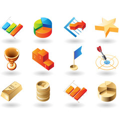 icons for business vector image