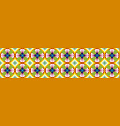 Intricate mosaic style flower pattern vector