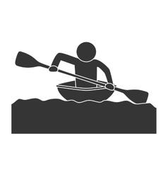 Kayak extreme sport vector