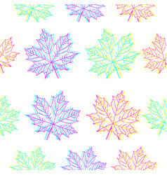 Maple leaves pattern in cmyk colors vector