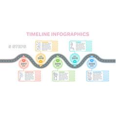 navigation map infographics 5 steps timeline vector image vector image