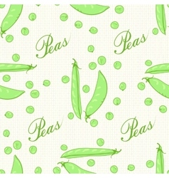 Pods and peas seeds peas green vector image