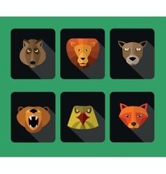 Predator animals icons format vector image