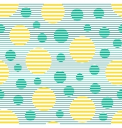 Seamless geometric striped pattern with circles vector image vector image