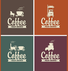 set of coffee banners for coffeehouse vector image