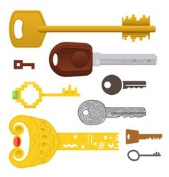 set of different keys vector image vector image