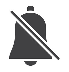 Silent bell glyph icon web and mobile alarm off vector