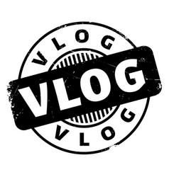 Vlog rubber stamp vector