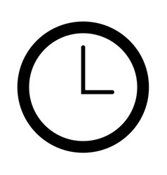 Watch clock time minute line vector