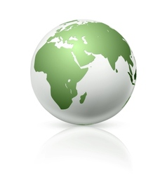White globe vector image vector image