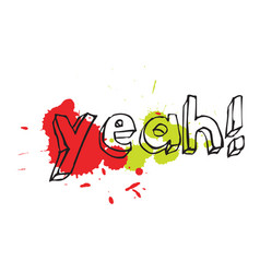 Yeah typography for kids vector