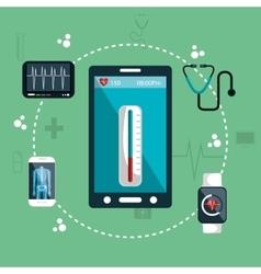 Health app medical digital healthcare vector