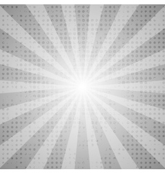 Grey abstract retro beams background vector