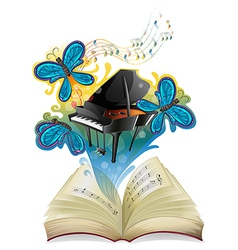 A musical book vector