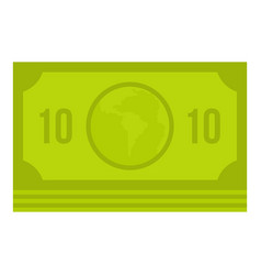 Green money banknote icon isolated vector