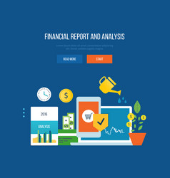 Finance financial reporting analysis planning vector