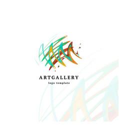 Abstract art gallery modern logo unusual vector